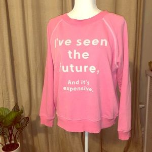 Neon Pink Wildfox Crew Neck
